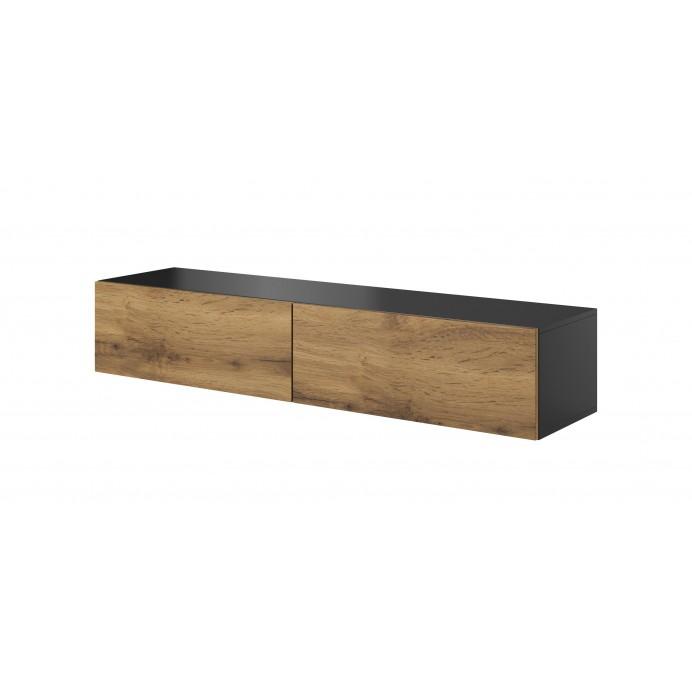 Livo tv stand antracite/votan oak 160/40/30
