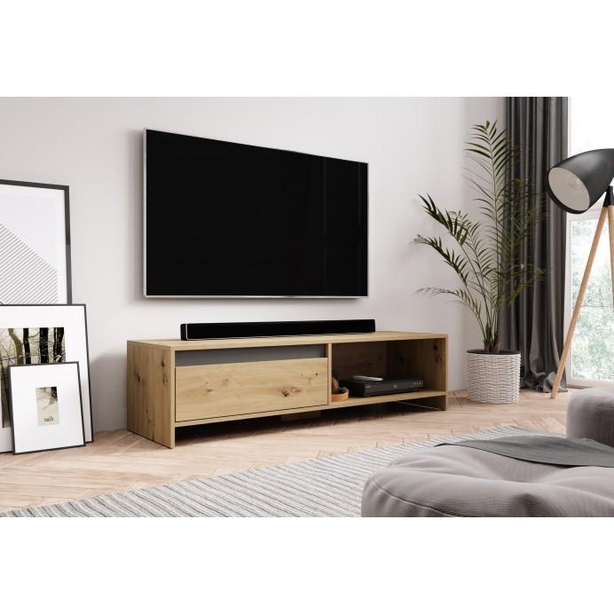 Line tv stand dab artisian/white mat -140 x 40 x 35