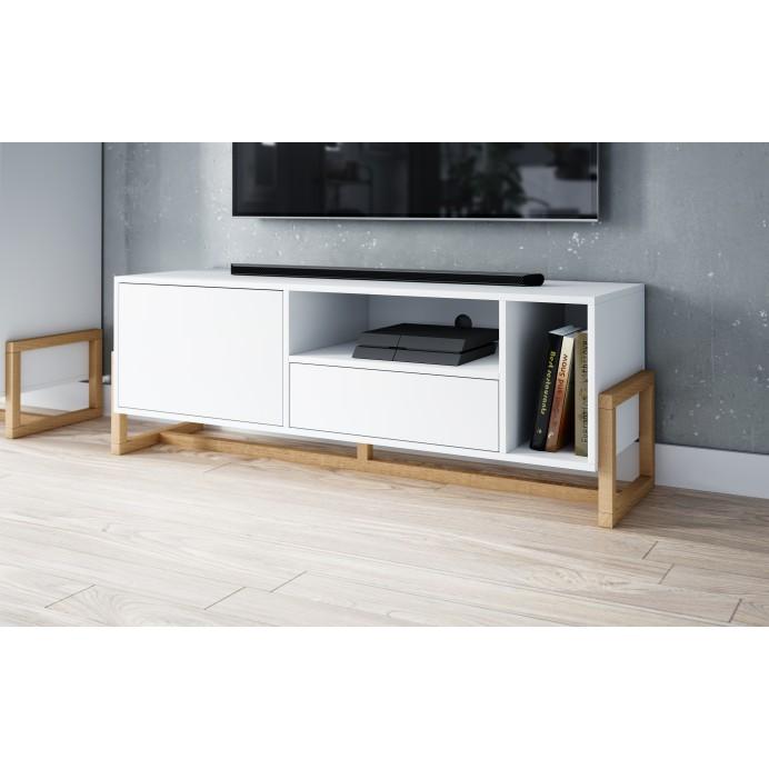 Oslo tv stand white mat  139,2 x 42 x 48,9