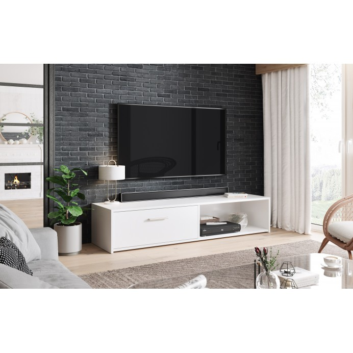 Simple TV stand  140 white    140X38.2X29.1