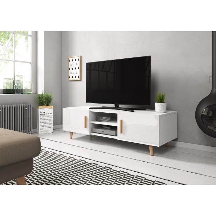 SWEDEN TV  stand  white/whitegloss 110X60X40