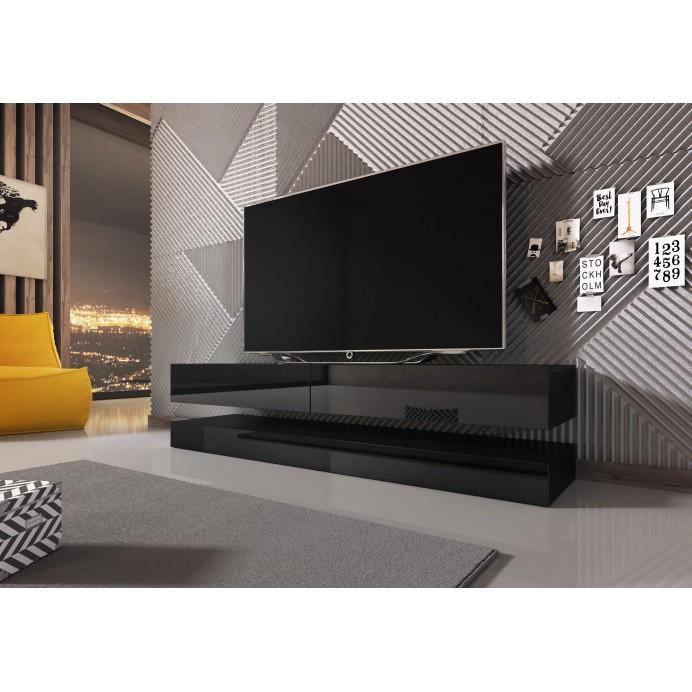 Fly tv stand black gloss 140x34x15 & 140x34x10